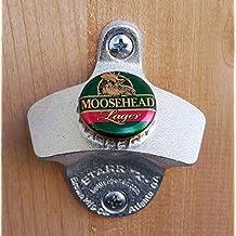 Moosehead Lager Starr X Wall Mount Bottle Opener Green Cap