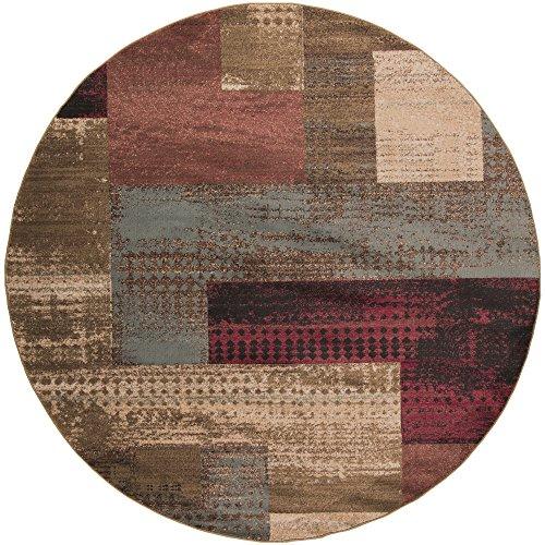 - Osborne Multi-Colored Modern Area Rug 8' Round