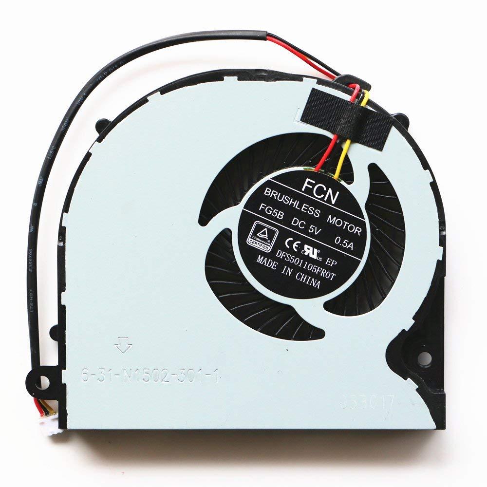 Ventilateur de processeur pour Ordinateur Portable Clevo P640RE P641RE P650n P650SE P650SA P651SE P651SG Sager NP8651 Gaming Laptop CPU Ventilateur FCN DFS501105FR0T FG5B 6-31-N1502-301