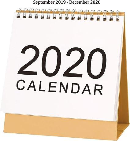 Calendario de escritorio 2019-2020: se ejecuta desde Septiembre de ...