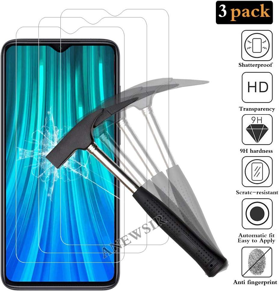 ANEWSIR [3 Pack] Protector de Pantalla para Xiaomi Redmi Note 8 Pro,Cristal Templado Xiaomi Redmi Note 8 Pro [9H Dureza] [Alta Definicion]