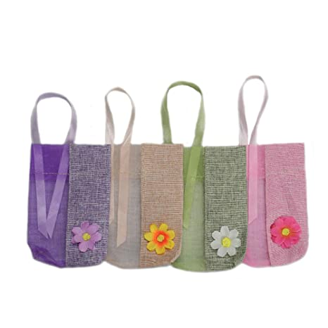 TooGet Bolsas de Muselina Reutilizables Bolsas de Costura de Hilo Bolsita Bolsas de Tela Transparente, 9x14cm- 12PCS