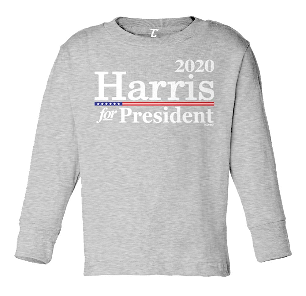 Tcombo Harris for President 2020 Democratic Long Sleeve Toddler Cotton Jersey Shirt