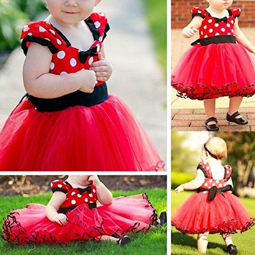 Minnie Costume Baby Girl Tutu Dress Mouse Ear Headband Polka Dot First Birthday Halloween Fancy Dress Up Princess Outfits 100 by OBEEII (Image #2)