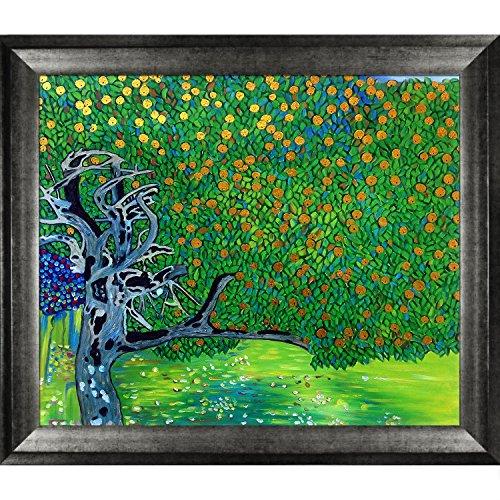 La Pastiche Golden Apple Tree Metallic Embellished Artwork By Gustav Klimt With Athenian