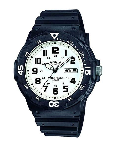 Casio Reloj Analogico para Hombre de Cuarzo con Correa en Resina MRW-200H-7BVEF: Amazon.es: Relojes