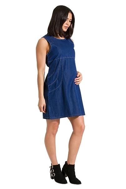 My Christy Vestido de Maternidad Vestido de Mezclilla Ropa de Embarazo Thelma-8