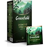 Greenfield Jasmine Dream Green Tea Classic Collection Finely Selected Speciality Tea 25 Double Chamber Teabags With Tags…
