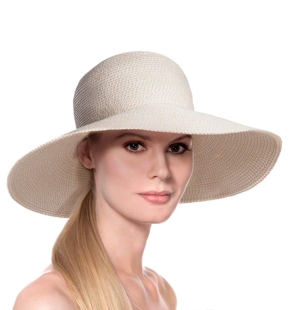 Eric Javits Luxury Fashion Designer Women's Headwear Hat - Bella - Cream by Eric Javits