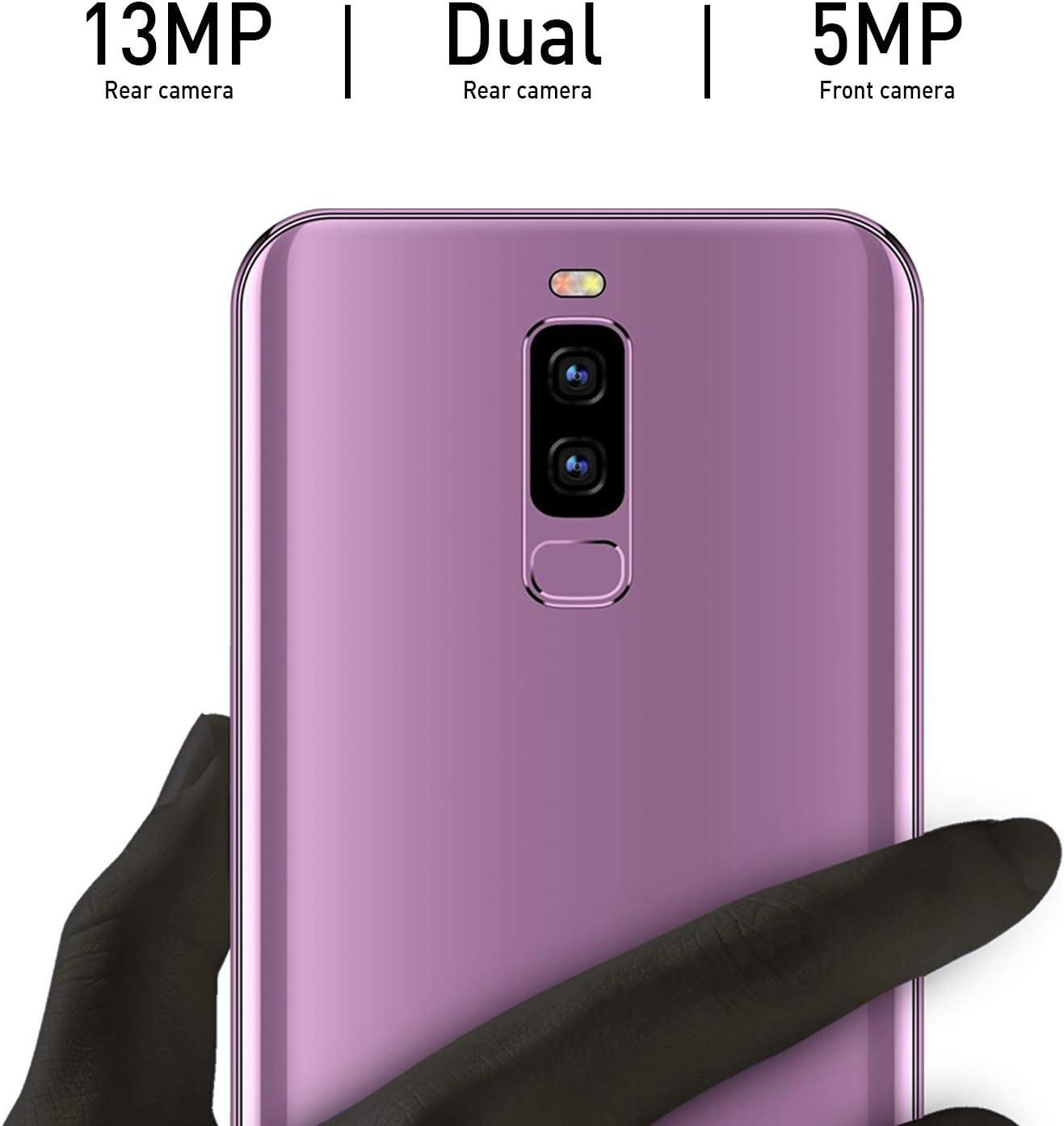 Moviles Libres Baratos 4G,S9 Pro 5,84 Pulgadas 16GB ROM 3GB RAM,4300mAh Bateria 13MP cámara, Teléfono Android 8.1 Quad-Core Dual SIM & Face ID Smartphone Baratos Libres(Púrpura): Amazon.es: Electrónica