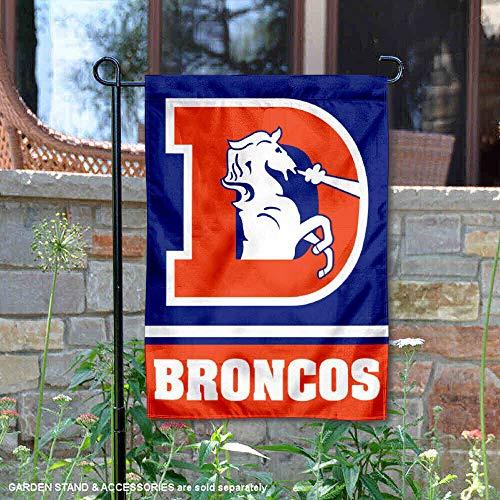 WinCraft Denver Broncos Throwback Logo Double Sided Garden -
