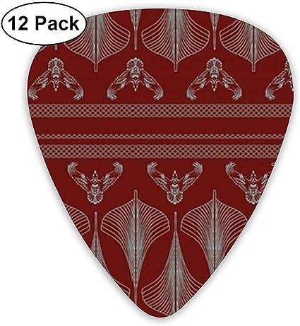 Viking Hulls Skirt Iron Red 12 Pack Púas de guitarra, guitarras eléctricas y acústicas: Amazon.es: Instrumentos musicales