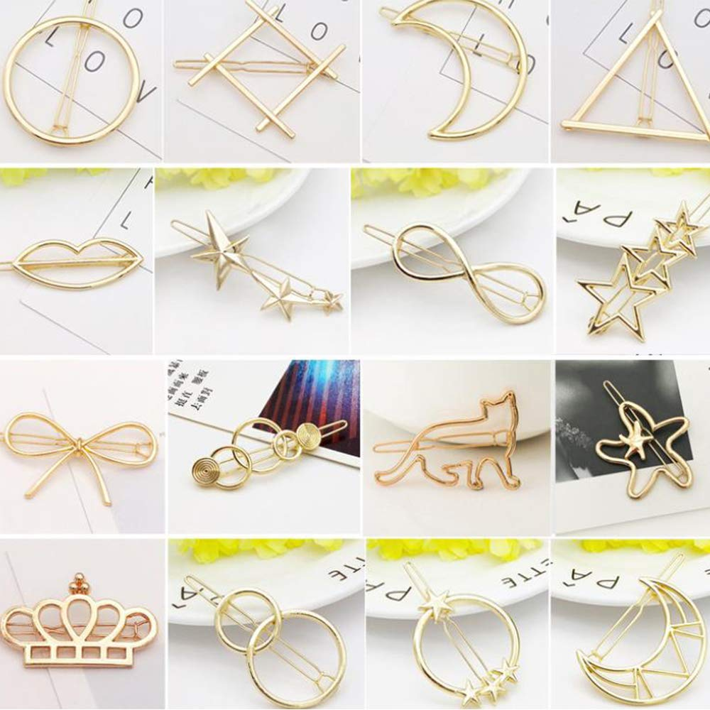 Brave 12 Pack Table Number Card Holders Photo Holder Stands Place Paper Menu Clips Circle Shape gold