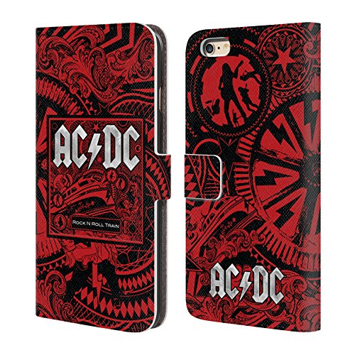 Officiel AC/DC ACDC Balancez Train De Rock Et Roll De N Art D'album Étui Coque De Livre En Cuir Pour Apple iPhone 6 Plus / 6s Plus