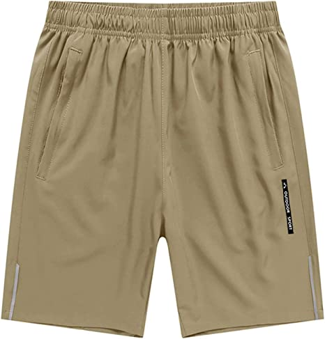 BIYLACLESEN Mens Running Shorts with Zipper Pockets Mositure-Wicking Lightweight Quick Dry Breathable Gym Shorts