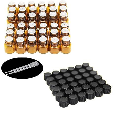 One Trillion,1 ml/2 ml ámbar muestra botellas de vidrio/viales con