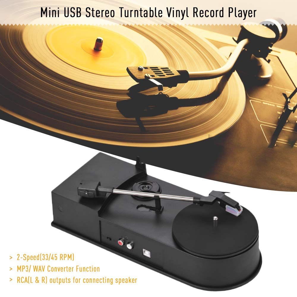 Festnight Record Player Tocadiscos Mini USB estéreo con ...