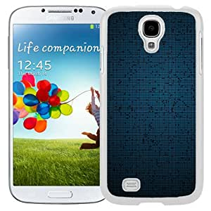 Fashion Custom Designed Cover Case For Samsung Galaxy S4 I9500 i337 M919 i545 r970 l720 Phone Case With Fine Blue Grid Pattern_White Phone Case