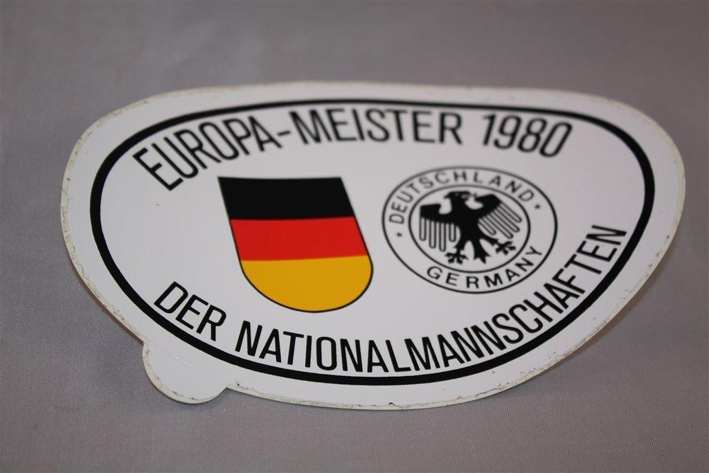 Europameister 1980 DFB XXL Aufkleber Deutscher Fu/ßball Bund Bundesliga
