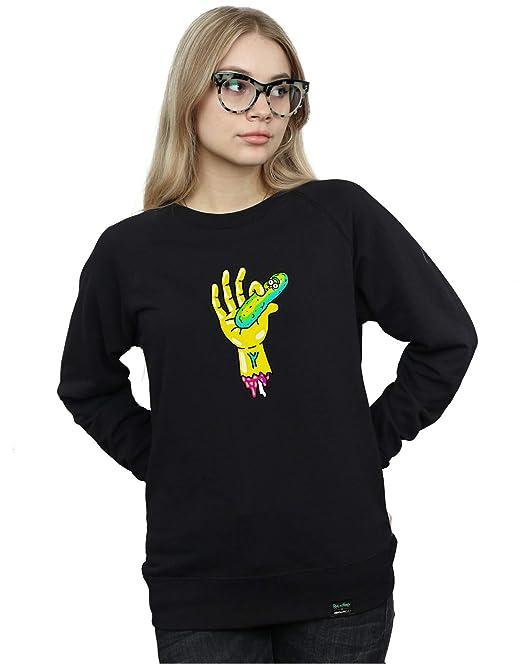 Absolute Cult Rick and Morty Mujer Pickle Hand Camisa De Entrenamiento: Amazon.es: Ropa y accesorios