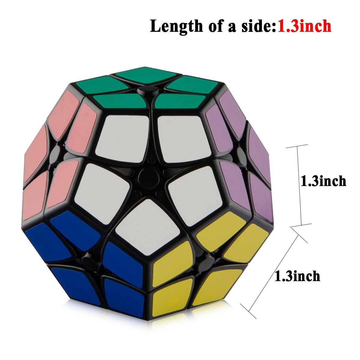 Amazon.com: D FantiX Shengshou 2x2 Megaminx Speed Cube Dodecahedron Puzzle  Cubes Black (Black): Toys U0026 Games