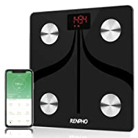 RENPHO Smart Bluetooth Body Fat Scale USB Rechargeable Digital Bathroom Scale w/iOS & Android app Wireless Body Composition Monitor for Body Weight, Body Fat%, BMI, Water, Muscle Mass, 396 Pounds