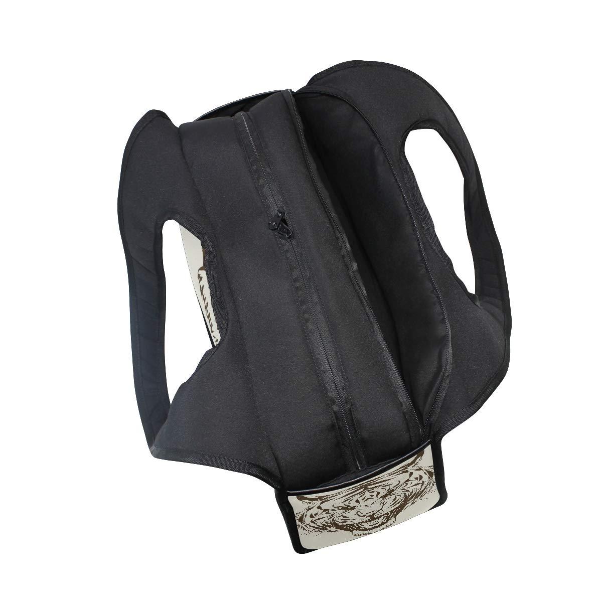 Tiger Head Outline Women Sports Gym Totes Bag Multi-Function Nylon Travel Shoulder Bag