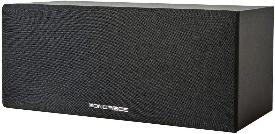 Monoprice 11948 Premium Home Theater Center Channel Speaker44; Black