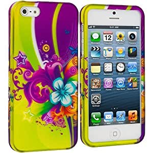Accessory Planet(TM) Love Flower Hard Snap-On Design Rubberized Case Cover Accessory for Apple iPhone 5 / 5S