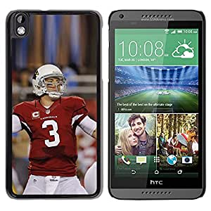 CASECO - HTC DESIRE 816 - 3 Football Player - Delgado Negro Plástico caso cubierta Shell Armor Funda Case Cover - 3 Jugador de fútbol