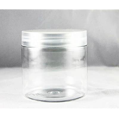 Clear 7.5 oz PET Jar w/Silver Cover with Gasket 20PCS chic