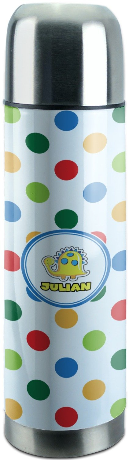 Dots & Dinosaur Stainless Steel Thermos (Personalized)