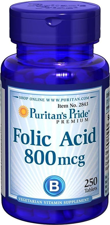 Ácido Fólico 800 mg 250 comprimidos.
