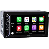 """Jensen VX5228 6.2"""" LED Backlit LCD Digital Multimedia Touch Screen Double DIN Car Stereo with Built-in Apple CarPlay, Bluetooth & USB Port"""
