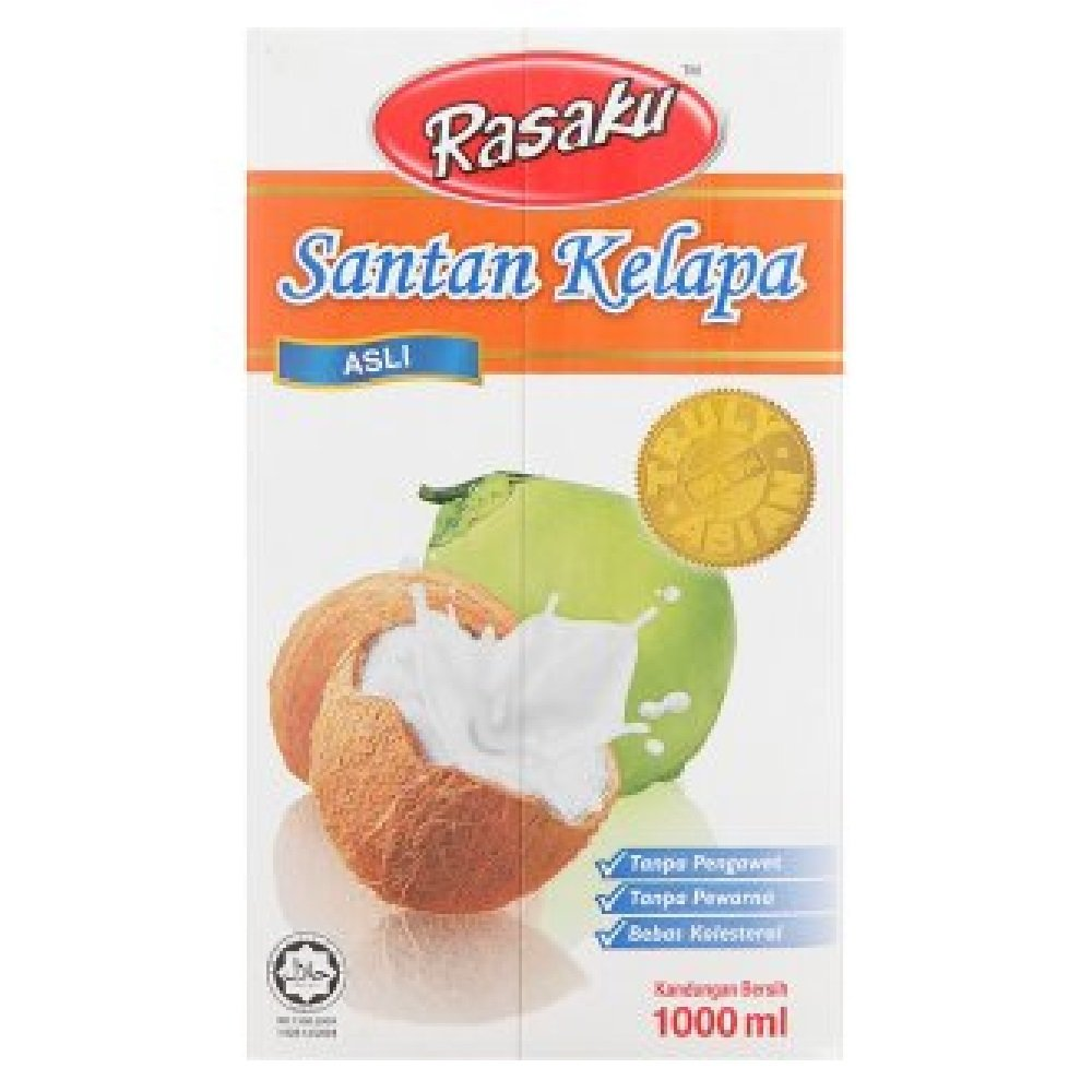 Rasaku Regular Coconut Milk 1000ml (628MART) (1 Pack)