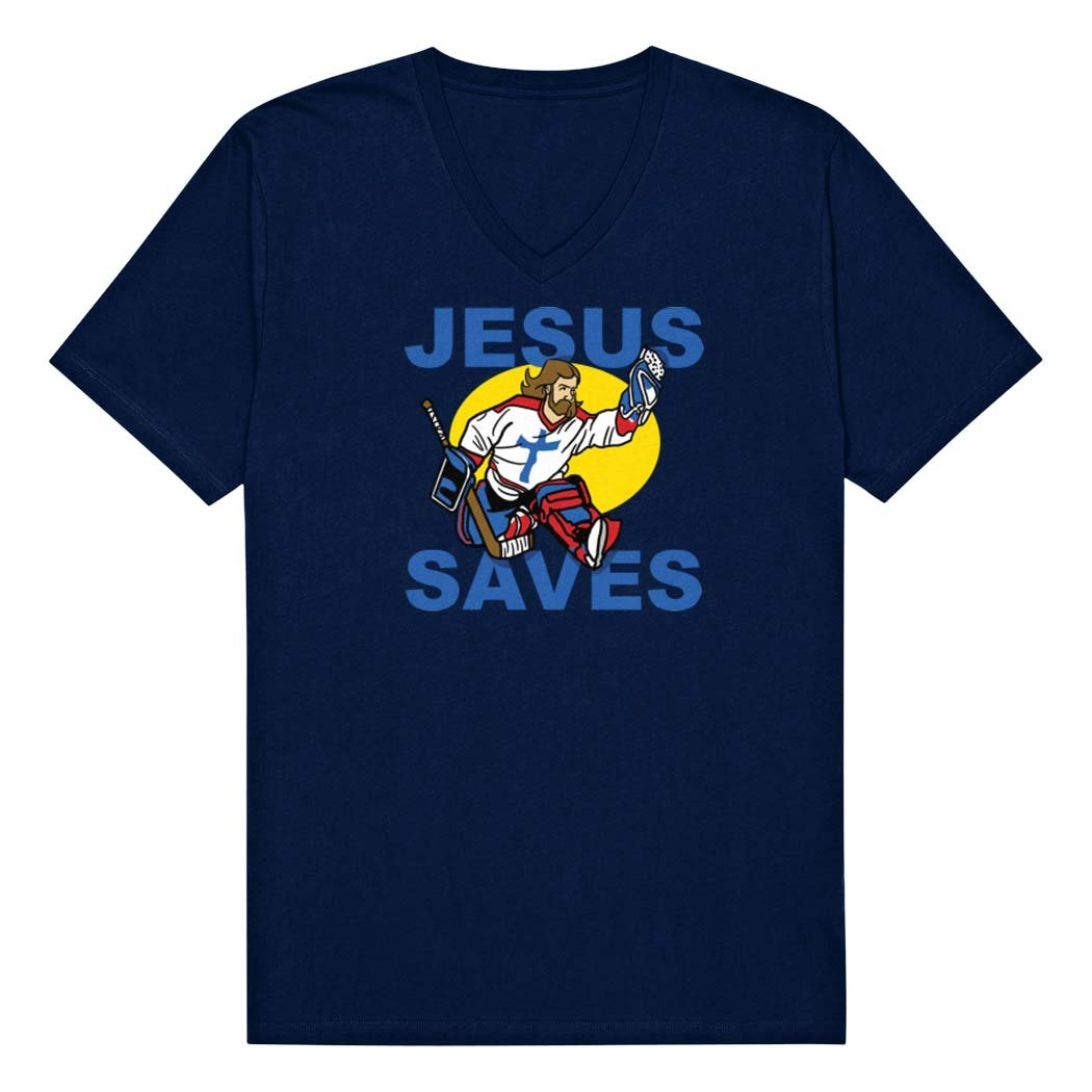 Jesus Saves Hockey S T Shirt Apparel