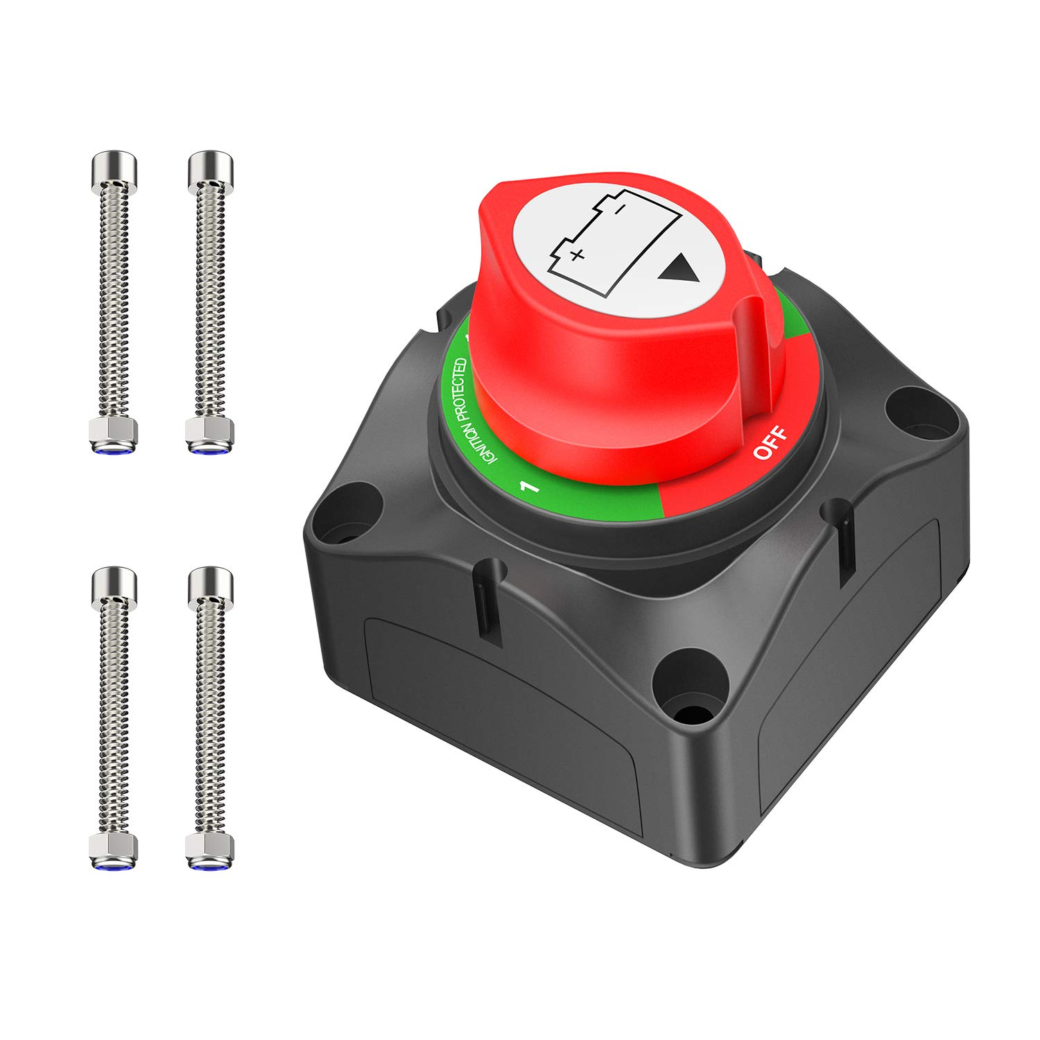 Nilight 1-2-Both-Off Battery Switch, 12V-48V Battery Disconnect Master Cutoff Switch for Marine Boat Car RV ATV UTV Vehicle, Waterproof Heavy Duty Battery Isolator Switch, 2 Years Warranty (90108A): Industrial & Scientific
