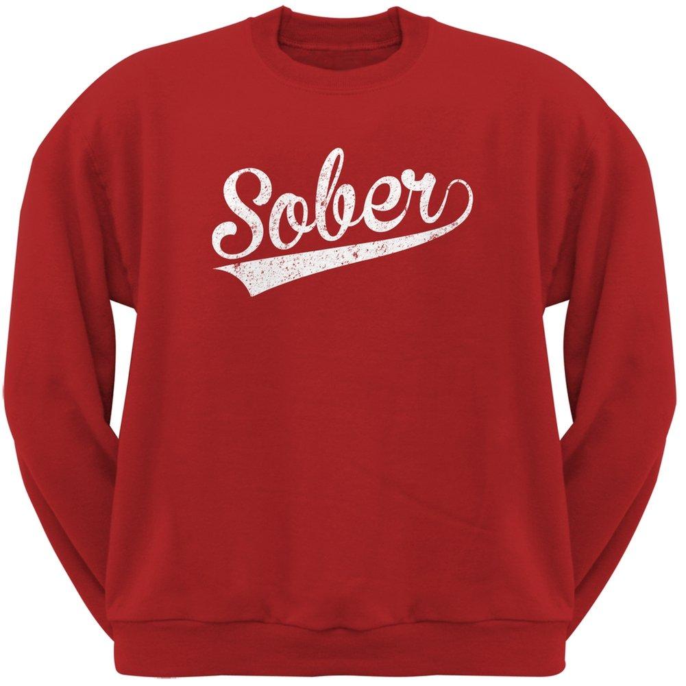 Sober Red Adult Sweatshirt Patricks Day St