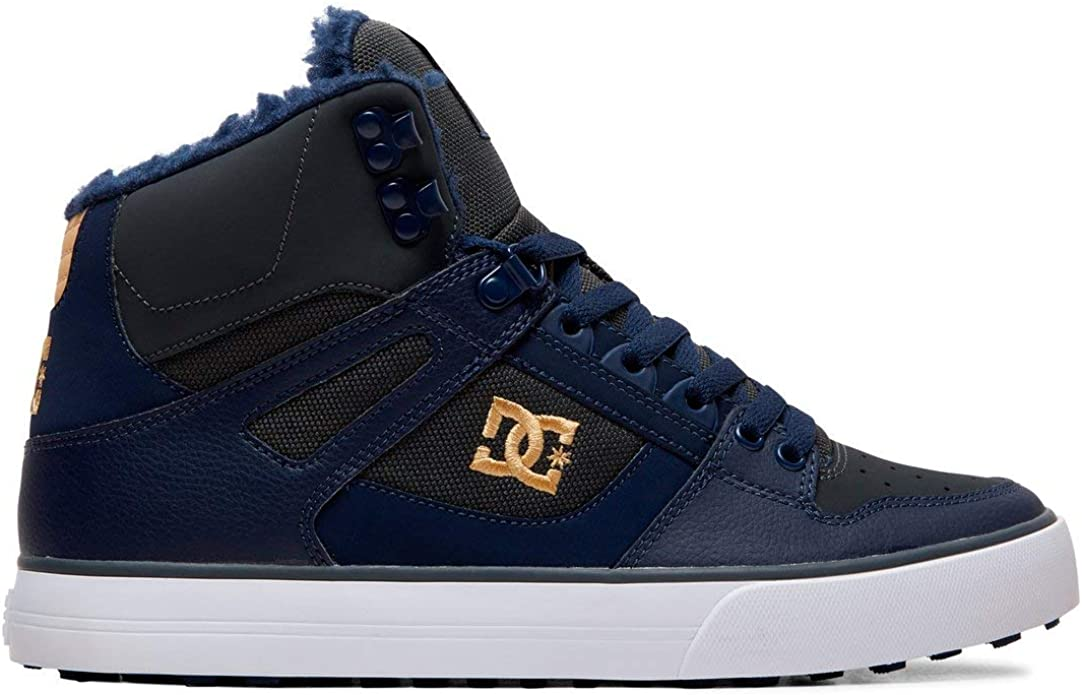 DC Shoes Pure High WC Sneakers High Tops Herren Größe 38 bis 52 Marineblau/Grau