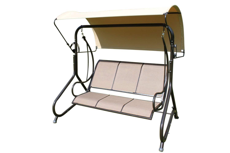 Blenheim Luxury Heavy Duty Garden 3 Seater Swing Seat Hammock-REDUCED Olive Grove