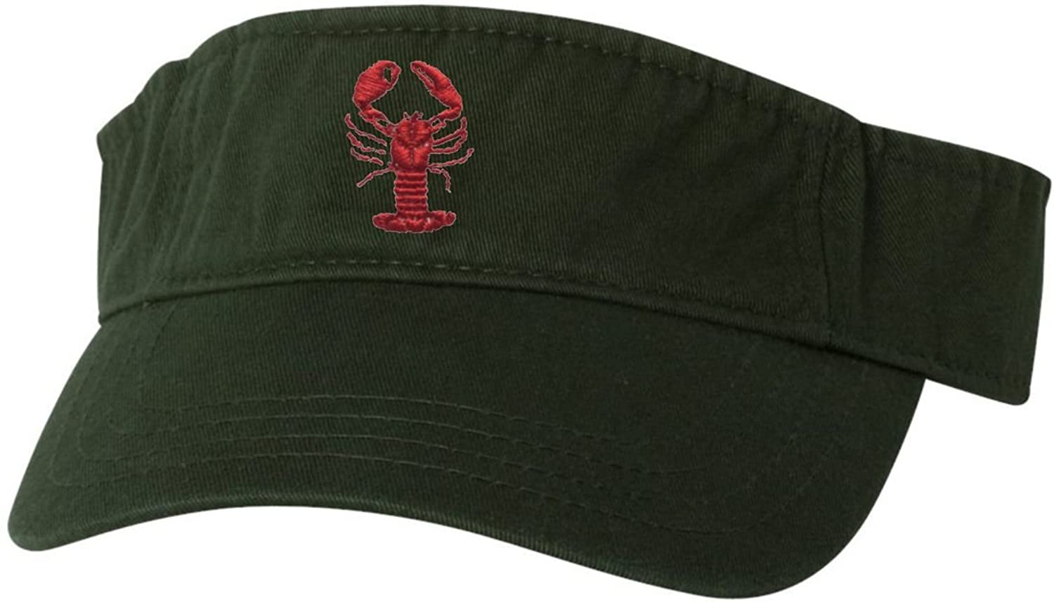 Go All Out Adult Lobster Embroidered Visor Dad Hat