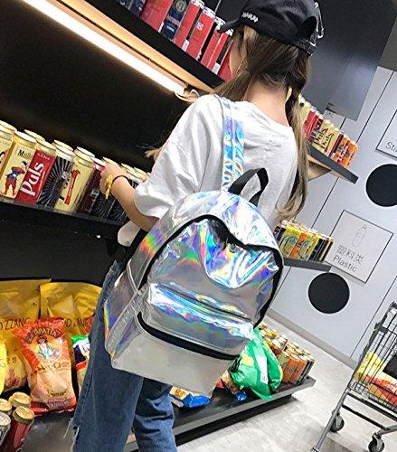 Novias Boutique - Bolso mochila  para mujer morado morado plata