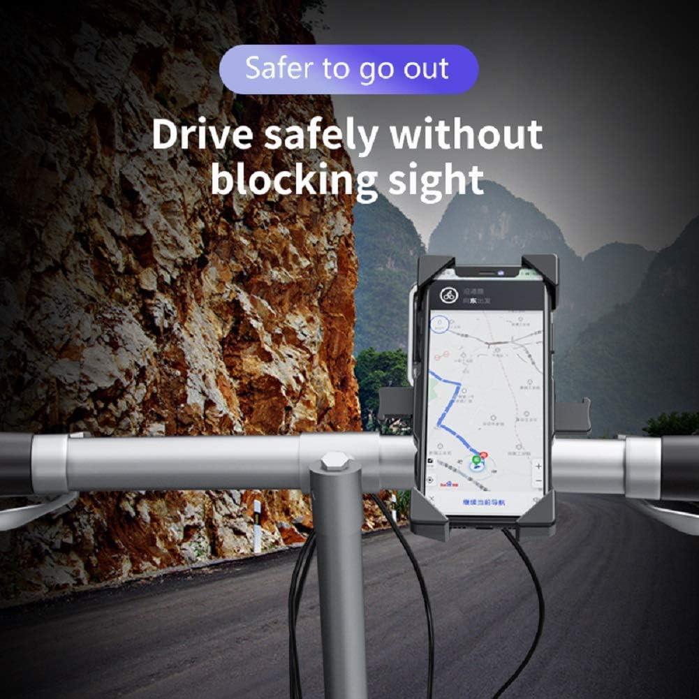 CEGAR Support de T/él/éphone de V/élo Universel r/églable V/élo Moto de Montagne Support de T/él/éphone de V/élo de Route pour La Plupart des Smartphones 4.0-6.5 Rotatif 360 /° Compatible Gopro