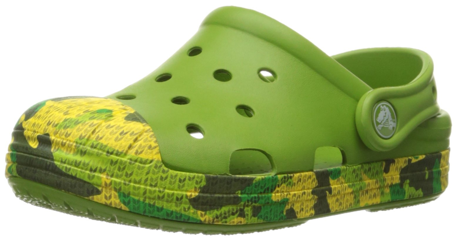 crocs Bump It Camo K Clog (Toddler/Little Kid), Parrot Green, 13 M US Little Kid by Crocs