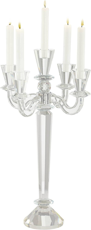 Del Aire Crystal Candelabra Candle Holder