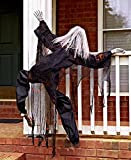 63 Life Size Climbing Zombies Halloween Haunted House Prop Decor (black)