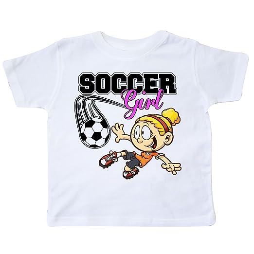 Amazon.com  inktastic - Soccer Girl Toddler T-Shirt 26e38  Clothing 1eb2856c9