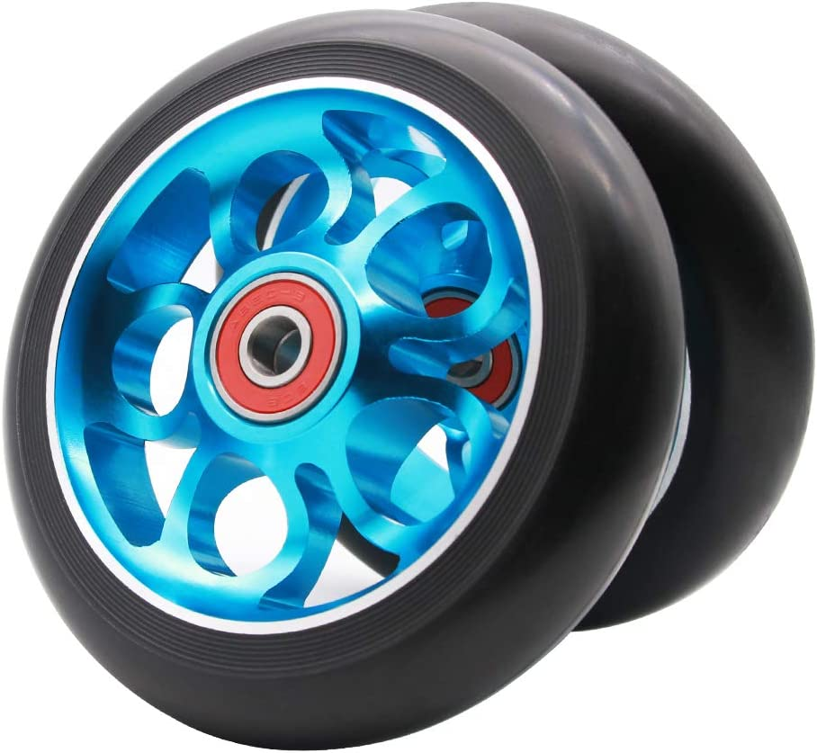 Z-FIRST 2Pcs 110mm Pro Scooter Wheels with ABEC 9 Bearings Fit for MGP/Razor/Lucky Envy/Vokul Pro Scooters Replacement Wheels