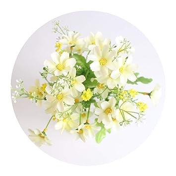1 Bouquet 13 Heads Yellow Sunflower Silk Artificial Flowers Bouquet