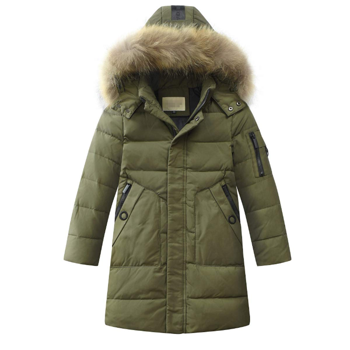 LISUEYNE Boys Kids Winter Hooded Down Coat Puffer Jacket Big Boys Mid-Long HM1811